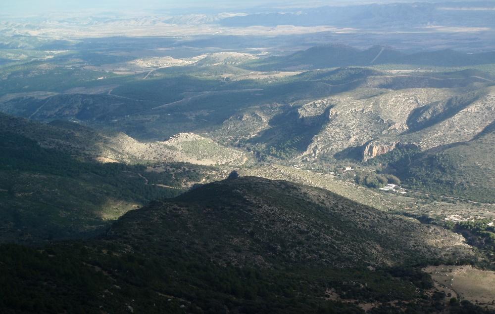 Ain Boussadia vu depuis le Djebel Bargou